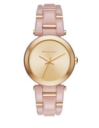 Michael Kors Delray Acetate Chain Link Watch Mk4316 Pink