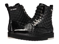 Love Moschino Quilted Combat Sneaker Black Women's Boots
