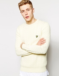 Lyle And Scott Jumper With Cable Knit Ivory