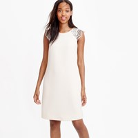 J.Crew Petite Edged Lace Cap Sleeve Dress