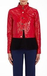 Lisa Perry Snazzy Moto Jacket Red