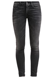 Replay Luz Slim Fit Jeans Washed Black Black Denim