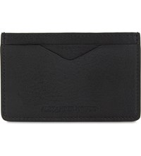 Alexander Mcqueen Logo Leather Card Holder Black Gold