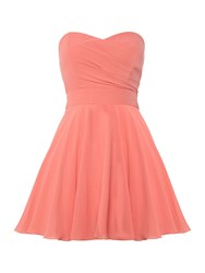 Tfnc Strapless Fit And Flare Dress Coral