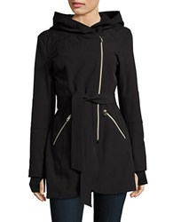Jessica Simpson Hooded Fleece Lined Jacket Black