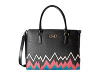 Salvatore Ferragamo Beky Base Nero X Multicolor Handbags Black