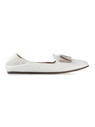Lanvin Bow Detail Slippers White