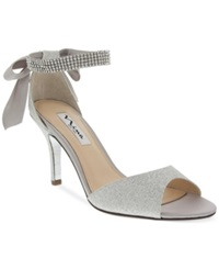 Nina Vinnie Two Piece Evening Sandals Women's Shoes Silver