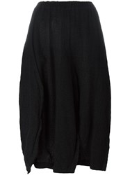 Comme Des Garcons Elasticated Waistband A Line Skirt Black
