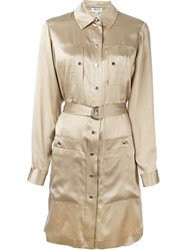 Kenzo 'Sand' Shirt Dress Nude And Neutrals