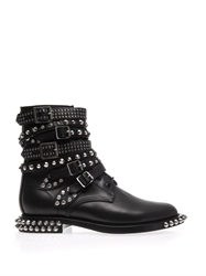 Saint Laurent Rangers Studded Punk Leather Boots