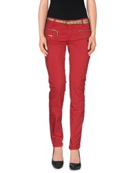 Elisabetta Franchi Jeans Trousers Casual Trousers Women Brick Red