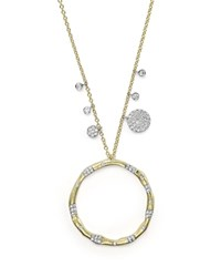 Meira T 14K Yellow Gold And Diamond Open Circle Charm Necklace 16