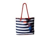 Vera Bradley Striped Tote Navy Stripe Tote Handbags