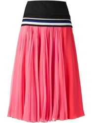 Bouchra Jarrar Pleated Skirt Pink And Purple