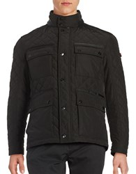 Strellson Quilted Zip Front Jacket Black