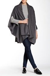 Shades Of Grey Oversized Cocoon Wool Blend Cape Gray