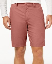 American Rag Men's Solid Slim Fit Poplin Chino Shorts Rose Dust