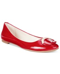 Alfani Gwennevah Buckle Flats Only At Macy's Women's Shoes Garnet