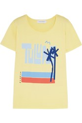 Solid And Striped Donald Robertson Tulum Cotton T Shirt Yellow