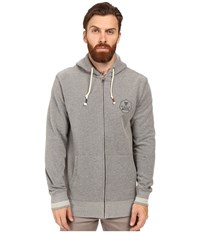 Vissla Hurricanes Heavy Washed Brushed Zip Fleece Grey Heather Men's Clothing Gray