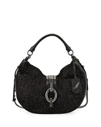 Diane Von Furstenberg Sutra Calf Hair Hobo Bag Black