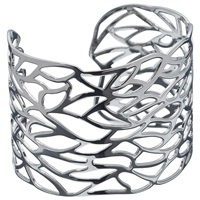 John Lewis Cut Out Leaf Cuff Silver