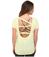 Alo Yoga Draft Short Sleeve Top Pale Green Women's Clothing