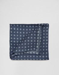 Asos Pocket Square With Polka Design In Wool Blue
