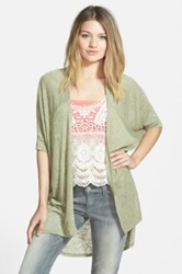 Painted Threads 'Kimi' Cardigan Juniors Green