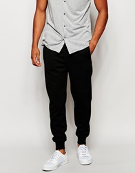 Native Youth Pique Joggers In Slim Fit Black
