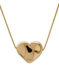 Lord And Taylor Gold Rush 14K Yellow Gold Box Chain Heart Slide Necklace