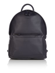 Ted Baker Dollar Leather Backpack Navy