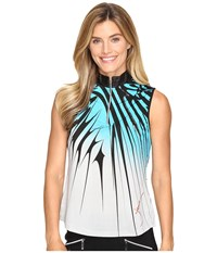 Jamie Sadock Electricity Print Sleeveless Top Curasao Women's Sleeveless Blue