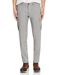 Eleventy Stretch Cotton Slim Fit Cargo Pants Light Grey