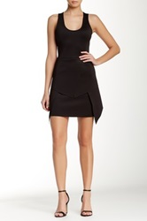 Yigal Azrouel Multi Layer Scuba Dress Black