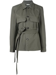 Each X Other Belted Jacket Green