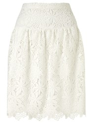 Bruce By Bruce Oldfield Guipure Lace Skirt Cream