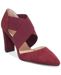 Adrienne Vittadini Nancele Pointed Toe Pumps Women's Shoes Merlot
