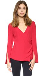 C Meo Collective Night Air Blouse Red