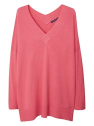 Violeta By Mango V Neck Jumper Pink
