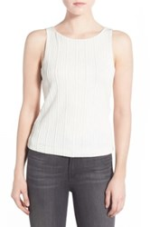 Chelsea 28 Cutout Back Stretch Knit Sleeveless Top White