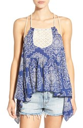 Rip Curl Women's 'Dakota Rose' Print Strappy Tank Navy