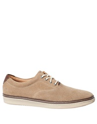 Johnston And Murphy Culling Perforated Suede Sneakers Camel