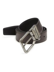 Ermenegildo Zegna Sartoria Leather Belt Medium Solid Grey