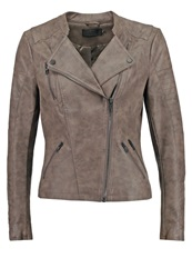 Only Onlava Faux Leather Jacket Falcon Taupe
