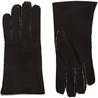 Barneys New York Men's Shearling Lined Gloves Black Blue Black Blue