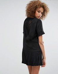 Sister Jane Shadowplay Lace Back Dress Black