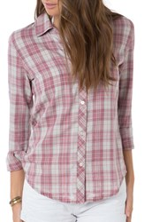 O'neill Women's 'Birdie' Plaid Flannel Shirt Maroon