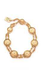 Wgaca Chanel Coins Necklace Previously Owned Gold